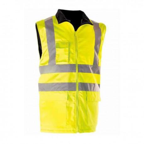Gilet haute visibilité chaud - jaune fluo