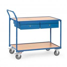 Servante d'atelier deux tiroirs charge 250 Kg