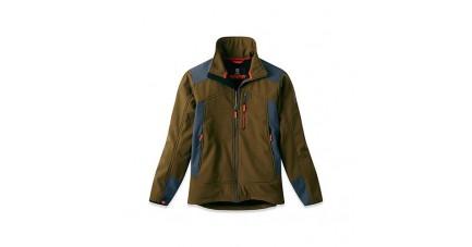 Vest Softshell OSTROV kaki - col ouvert