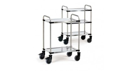 Chariot inox 2 ou 3 plateaux