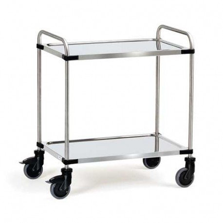 Chariot inox 2 plateaux