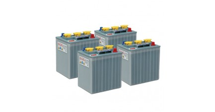 Pack 4 batteries 6V 210Ah - Plomb