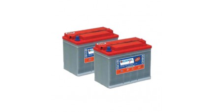 Pack 2 batteries 12V 110Ah - Plomb