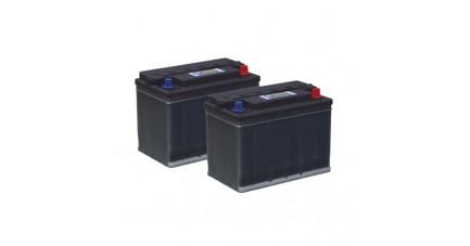 Pack 2 batteries 12V 65/85Ah - Gel