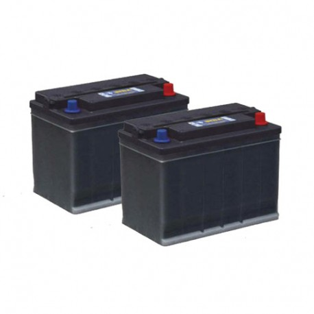 Pack 2 batteries 12V 65/85Ah - Gel