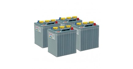 Pack 4 batteries 6V 240Ah/20h - Plomb