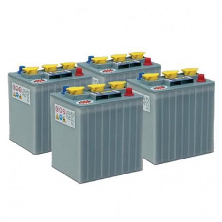 Pack 4 batteries 6V 240Ah/20h - Plomb