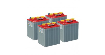 Pack 4 batteries 6V 270Ah - Plomb + Chargeur