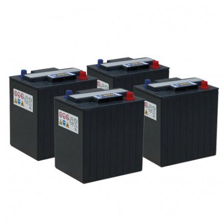 Pack 4 batteries 6V 240 Ah - Gel + Chargeur