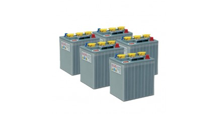 Pack 5 batteries 6V 240Ah - Plomb