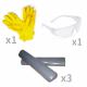 Kit anti pollution tous liquides 150 L - gant et lunette protection