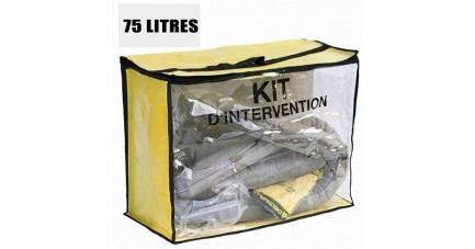 Kit anti pollution tous liquides 75 L
