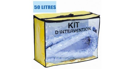 Kit anti pollution hydrocarbures 50 L