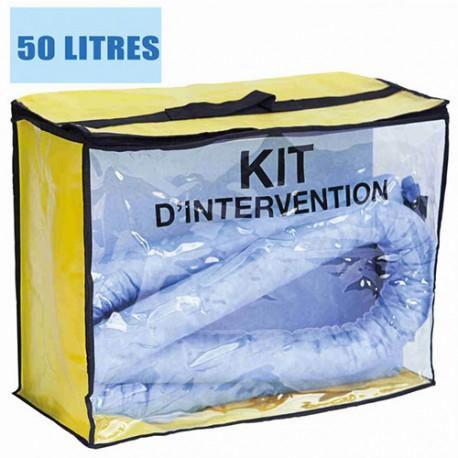Kit anti pollution hydrocarbures 50 L