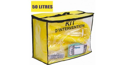 Kit anti pollution chimique 50 L