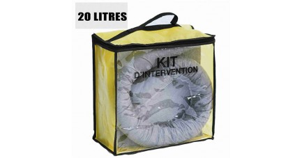 Kit anti pollution tous liquides 20 L