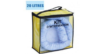 Kit anti pollution hydrocarbures 20 L