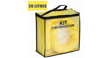 Kit anti pollution chimique 20 L