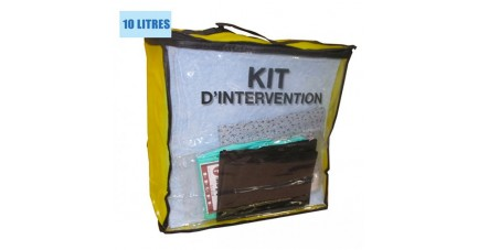 Kit anti pollution hydrocarbures 10 L