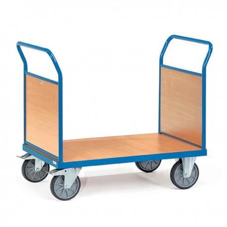 Chariot de manutention 2 ridelles bois