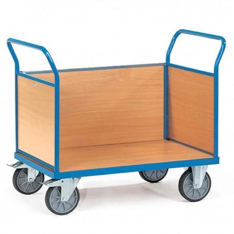 Chariot de manutention 3 ridelles bois