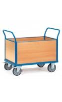 Chariot de manutention 4 ridelles bois