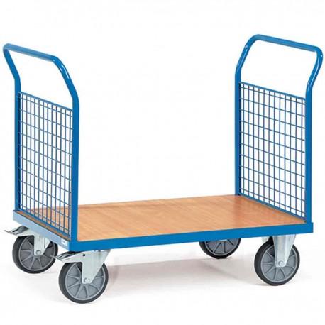 Chariot de manutention 2 ridelles