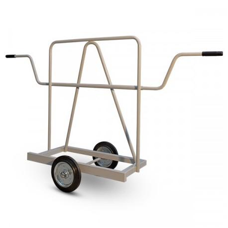 Chariot porte panneaux à roues caoutchouc