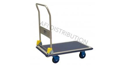 Chariot à dossier repliable et plateau télescopique