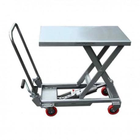 Table élévatrice manuelle aluminium