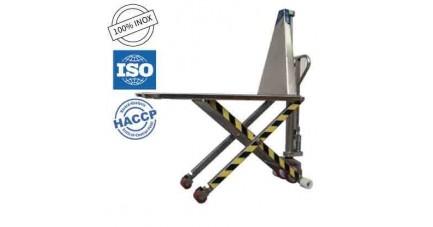 Transpalette manuel inox ciseaux TMS-80