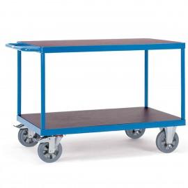 Chariot 2 plateaux pour charges lourdes