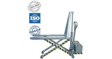 Transpalette manuel inox ciseaux TMS-80E
