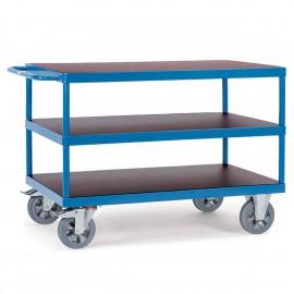 Chariot 3 plateaux pour charges lourdes