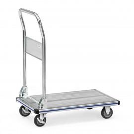 Chariot de manutention plateau aluminium très léger