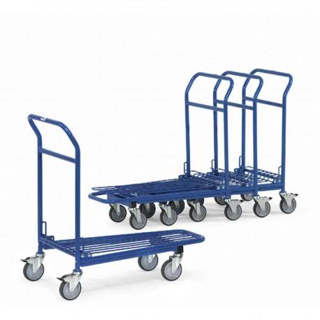 Chariot emboîtable à treillis métallique