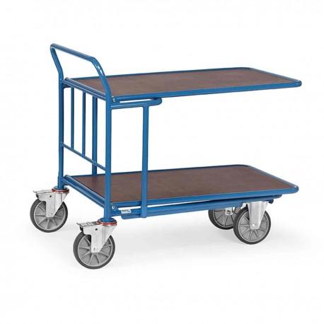 Chariot emboîtable à double plateaux