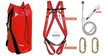 Kit de sécurité anti chute